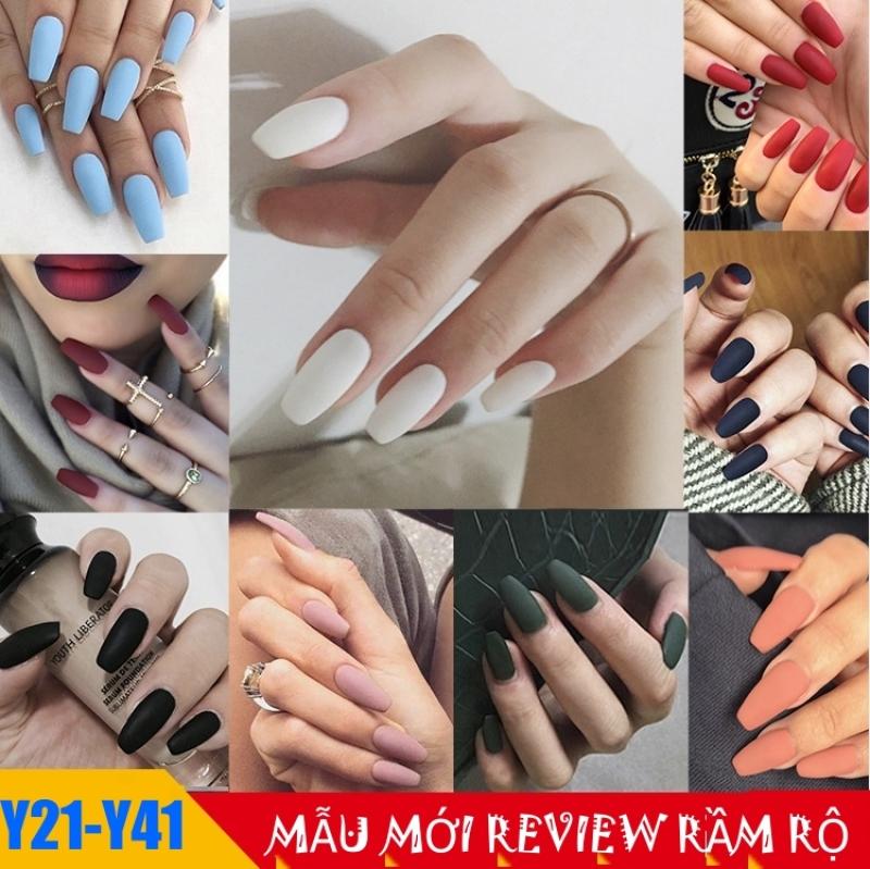 Bộ 24 móng tay giả dài Màu Nhám siêu xinh chống thấm nước - Bộ JP820 giá rẻ