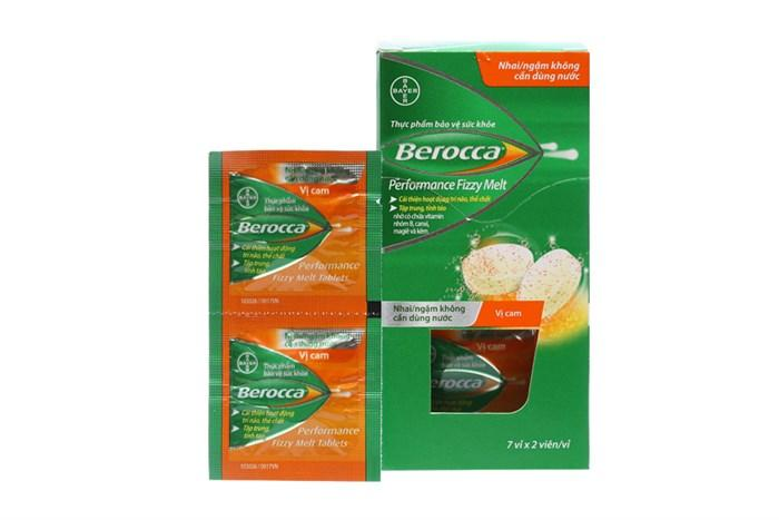 Viên ngậm Berocca Fizzy  bổ sung vitamin - 14 viên - Mới