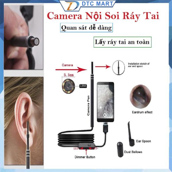 ngoáy tai có camera xiaomi,đắt hơn camera noi soi tai mui hong,Camera Nội Soi Tai Siêu Nét Đi Kèm Bộ Đầu Lấy Ráy, Soi Tai Mũi chuyên nghiệp,Giảm sốc 50%, Bảo hành 1 đổi 1 Toàn Quốc(SALE-50%)