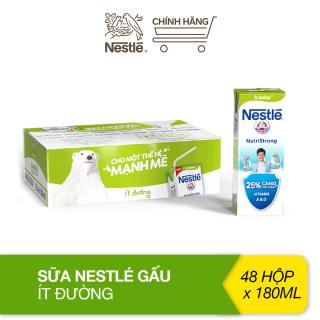 Thùng sữa ít đường Nestlé gấu thùng 48 hộp (180ml hộp) thumbnail
