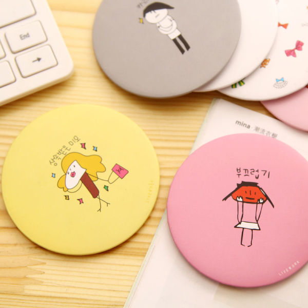 COMBO 5 gương mini dễ thương Hàn Quốc, đồ dùng cá nhân, gương soi, phụ kiện cá nhân (GM01), taphoatoanquoc giá rẻ
