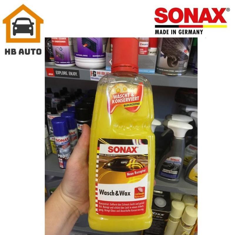 Nước rửa xe 2:1 SONAX Wash & Wax (Rửa & Wax bóng sơn) 313341