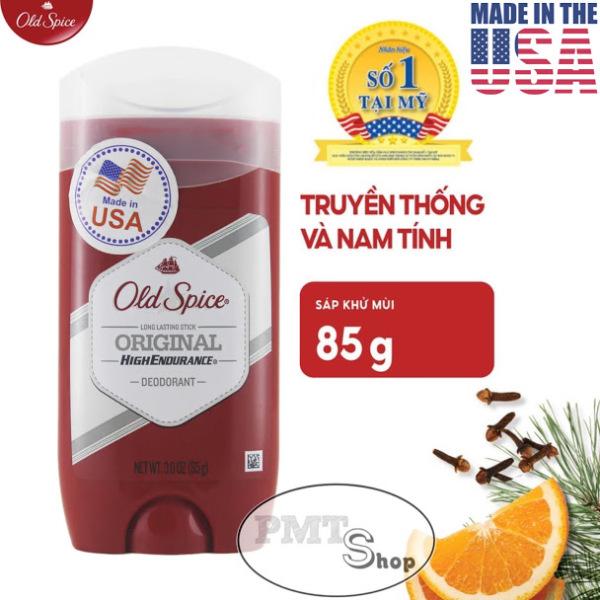 [USA] Lăn sáp khử mùi nam Old Spice Original Đỏ 85g (sáp xanh trong) High Endurance - Mỹ
