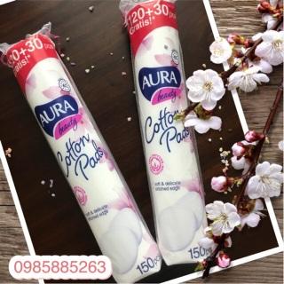 Bông Tẩy Trang Aura Cotton Beauty Cotton Pads 150 Miếng Chính hãng thumbnail