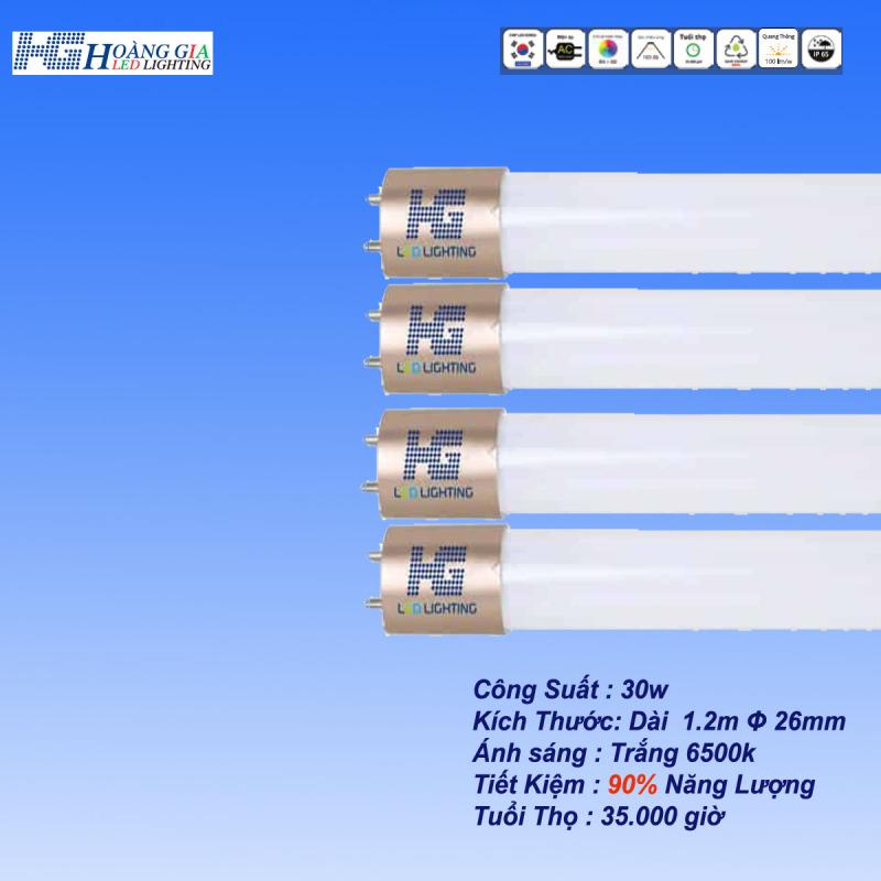 Combo 4 Bóng LED Tuýp 30w 1.2m Đầu Nhôm