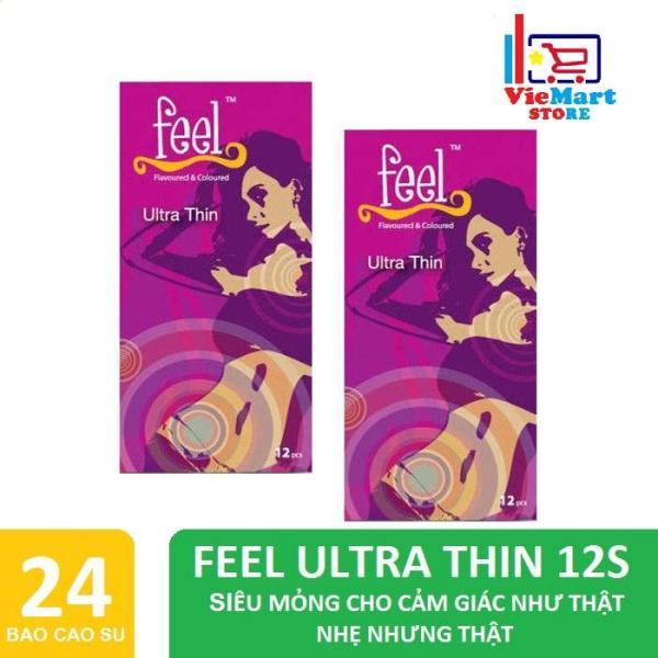 Bộ 2 Hộp Bao cao su Feel Ultra Thin 12s - Hãng phân phối chính thức nhập khẩu
