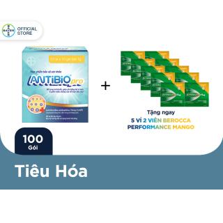 Thực Phẩm Bảo Vệ Sức Khoẻ Bổ Sung Lợi Khuẩn Antibio pro 100 Gói (10 Túi x 10 Gói Bột 1G) - Tặng 5 vỉ 2 viên Berocca thumbnail