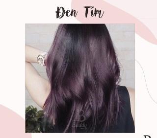 (Nhuộm Collagen Siêu Dưỡng Màu Đen Tím) Kem nhuộm tóc tại nhà Không mùi, màu chuẩn, bóng đẹp tự nhiên thumbnail