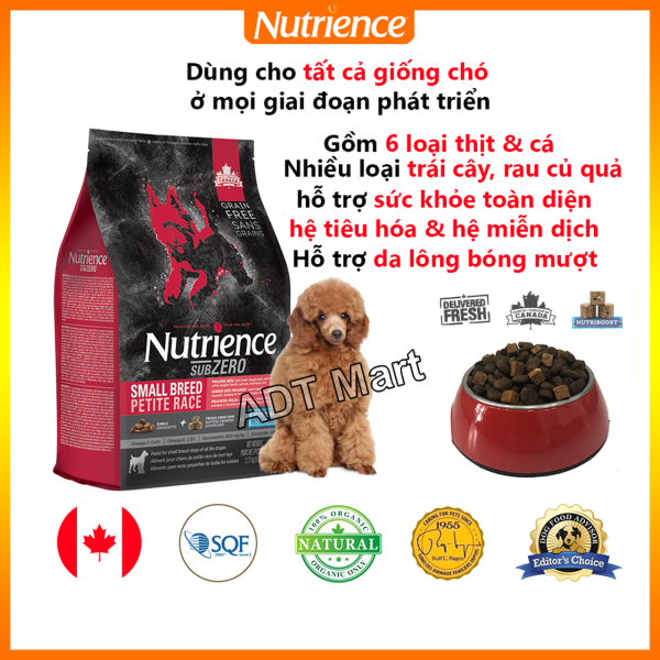 Thức Ăn Hạt Cho Chó Poodle Nutrience Subzero Phù Hợp Mọi Loại Giống Chó Ở Mọi Giai Đoạn Phát Triển - Thịt Bò, Thịt Cừu, Thịt Gà, Cá Hồi, Cá Trích, Cá Tuyết, Rau Củ Và Trái Cây Tự Nhiên