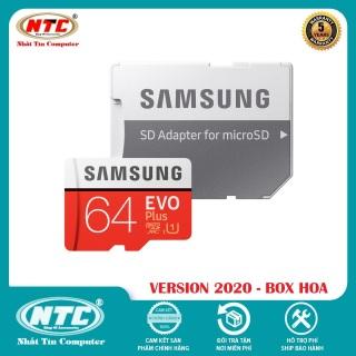 [Nhập ELJUN21 giảm 10%] Thẻ nhớ MicroSDXC Samsung Evo Plus 64GB U1 2K R100MB s W20MB s - box Hoa New 2020 (Đỏ) + Kèm Adapter - Nhất Tín Computer thumbnail