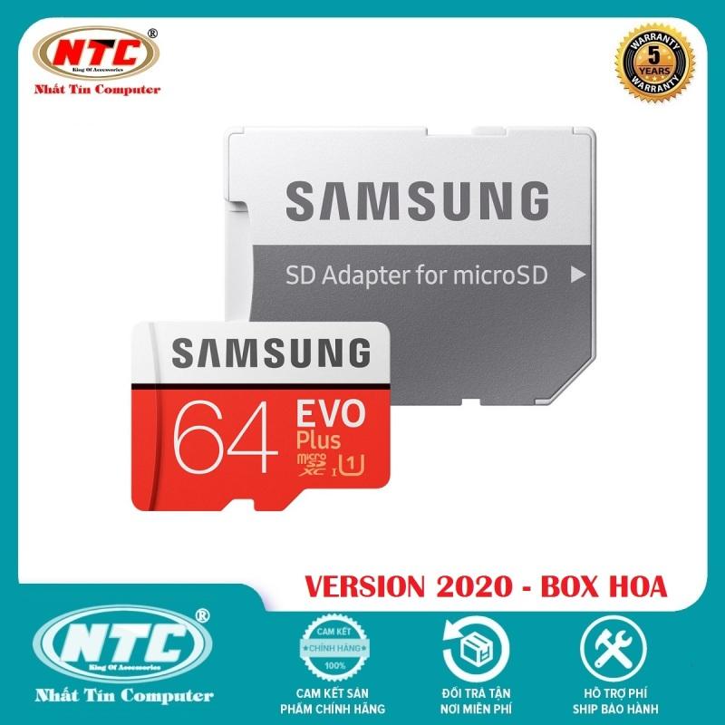 Thẻ nhớ MicroSDXC Samsung Evo Plus 64GB U1 2K R100MB/s W20MB/s - box Hoa New 2020 (Đỏ) + Kèm Adapter - Nhất Tín Computer