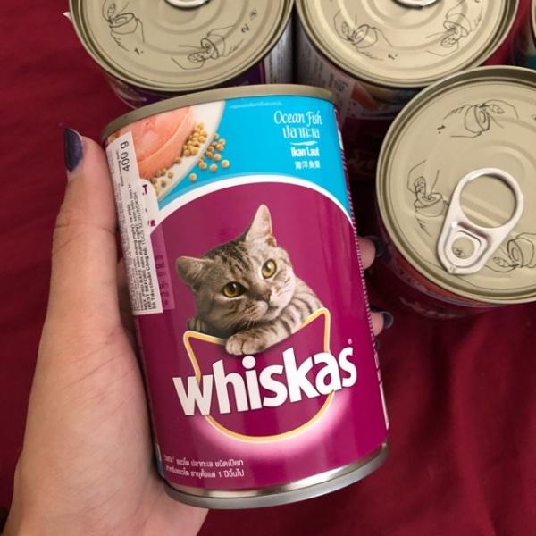 Pate Whiskas cho mèo lon 400g (vị cá biển, cá thu)