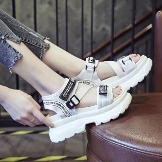 (Video 2 màu) Sandal nữ,sandal học sinh độn đế 5p fashion kiểu dáng mới siêu đẹp 8