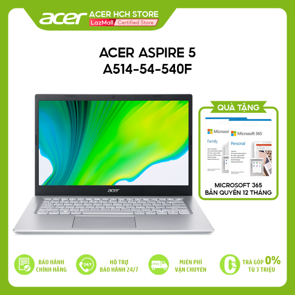 Bảng giá [VOUCHER 10% từ 27-29.03] Laptop Acer Aspire 5 A514-54-540F i5-1135G7 | 8GB | 512GB | Intel Iris Xe Graphics | 14 FHD | Win 10 Phong Vũ