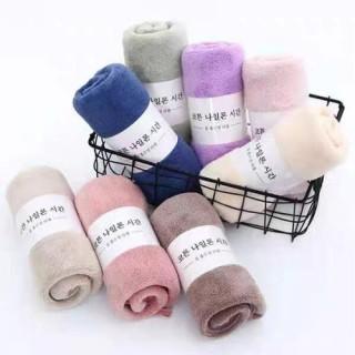 Combo 2 Khăn Mặt Xuất Hàn Quốc 100% Cotton 35 50cm thumbnail