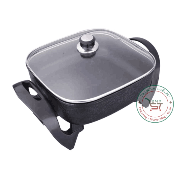 Nồi lẩu điện đa năng bếp lẩu điện vừa nấu lẩu vừa nướng là món đồ gia dụng tiện lợi trong gia đình|Siêu thị trực tuyến 247