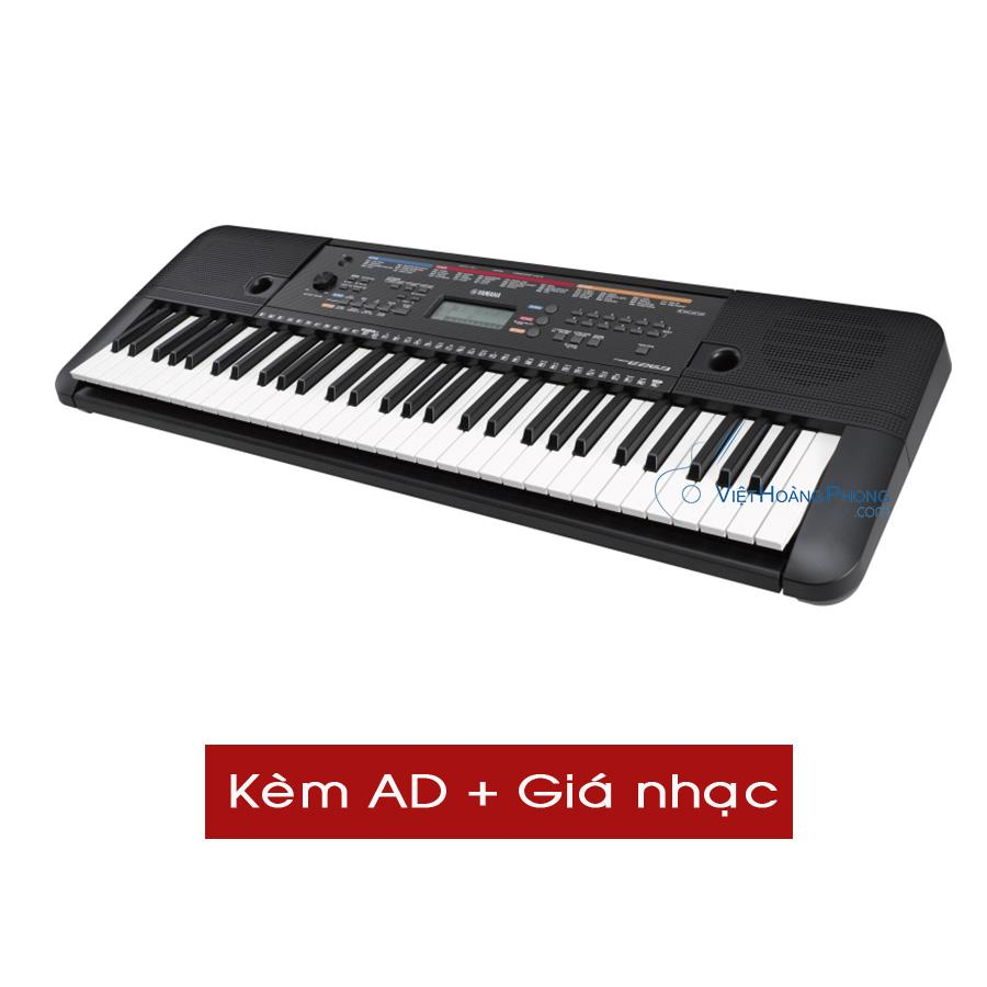 Đàn Organ Yamaha PSR- E263 (Kèm AD + Giá nhạc) - Organ dành cho người mới học - HappyLive Shop