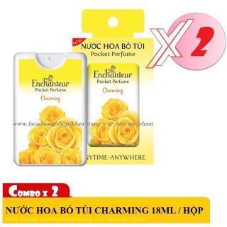 [HCM]Combo 2 Nước hoa bỏ túi Enchanteur hương Charming 18 ml ( Chai nhựa - 250 lần xịt ) thumbnail