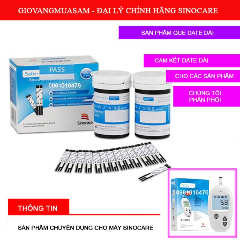 Hộp 50 que thử đường huyết Sinocare DATE DÀI chuyên dụng cho máy Sinocare