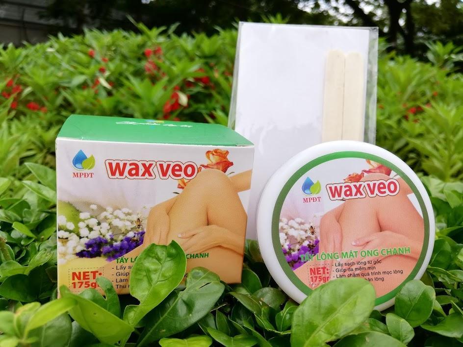 Wax lông mật ong veo tặng kèm que và giấy nhập khẩu