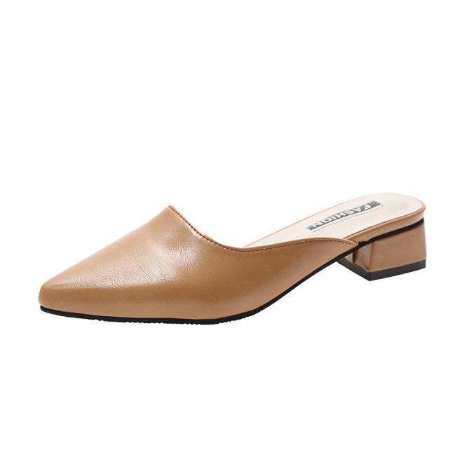 Giày sục cao gót 5 cm công sở da thật siêu nịnh chân giá rẻ