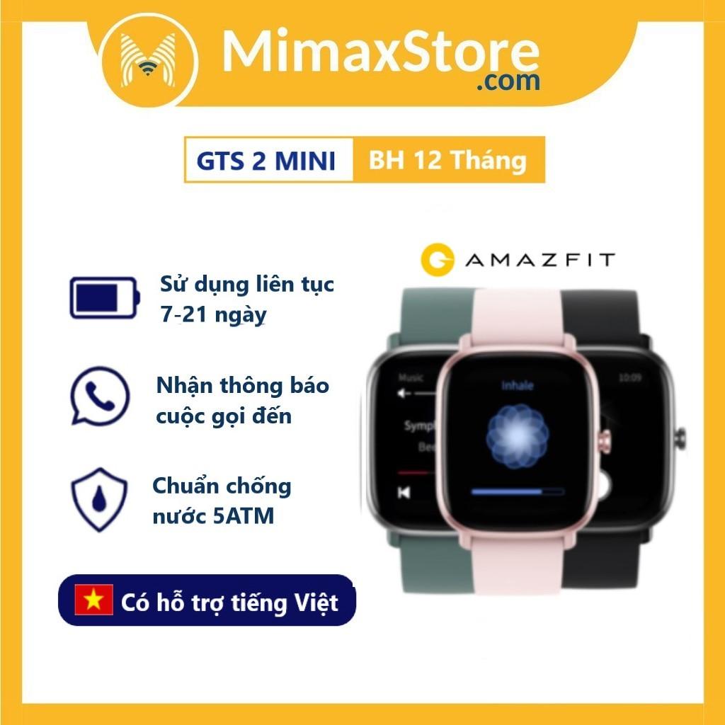 Đồng Hồ Thông Minh Amazfit GTS 2 Mini | Hàng Chính Hãng | Bảo Hành 12 Tháng 1 Đổi 1