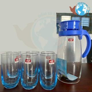 Bộ bình 6 ly thủy tinh màu cao cấp - Bộ bình 7 món MÀU cao cấp thumbnail