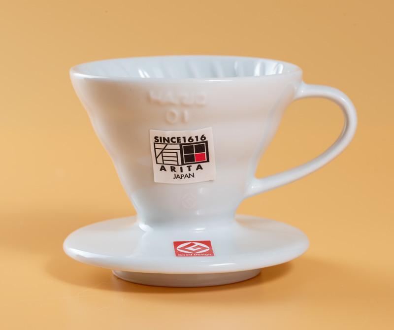 Hario Hario V60 Gốm Màu Trắng/Đỏ Cà Phê Ly Lọc VDC-01 Gốm Aritayaki 1-2 Cup