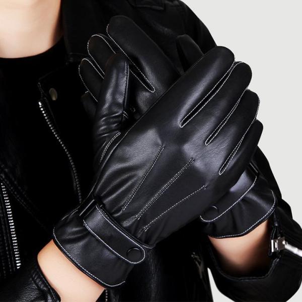 Găng tay da lót lông cảm ứng điện thoại smart phone - GT101