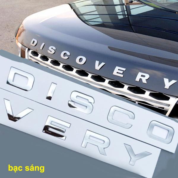 Bộ tem chữ nổi 3D DISCOVERY trang trí xe hơi ô tô MÀU BẠC SÁNG hàng xịn (hình thật có video)