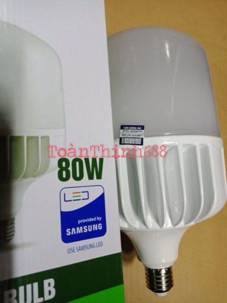 bóng đèn Led trụ 80w Rạng Đông ánh sáng vàng chíp Led Samsung