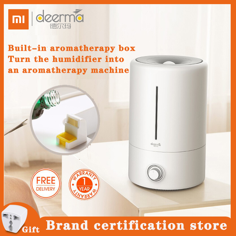 Deerma 5L Air Humidifier with Silver Ion, Ultrasonic Cool Mist Aroma Diffuser Can Add Essential Oil, Household Mist Maker Fogger Purifying Humidifier