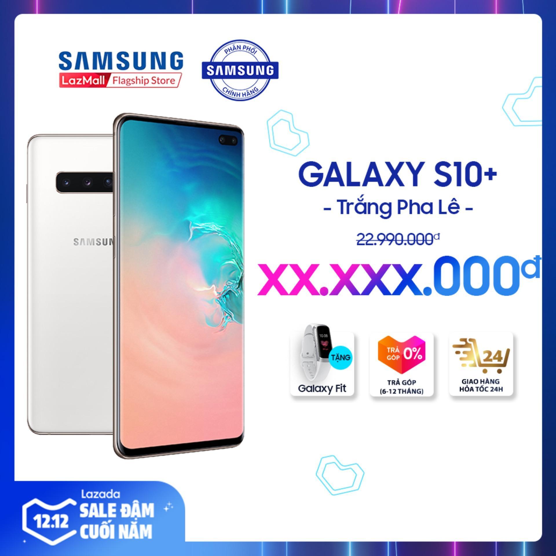 Deal Ưu Đãi Điện Thoại Samsung S10 PLUS 128GB (8GB RAM) - Màn Hình Dynamic AMOLED 6.4  , HD+, Quét Vân Tay Siêu âm - Powershare, Camera Trước 8 MP, 2 Nano SIM, Hỗ Trợ 4G - Hàng Phân Phối Chính Hãng.
