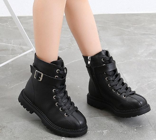 Giày Boot Da  cho bé  gái size 27 - 37  gái phong cách cá tính  - B90 giá rẻ