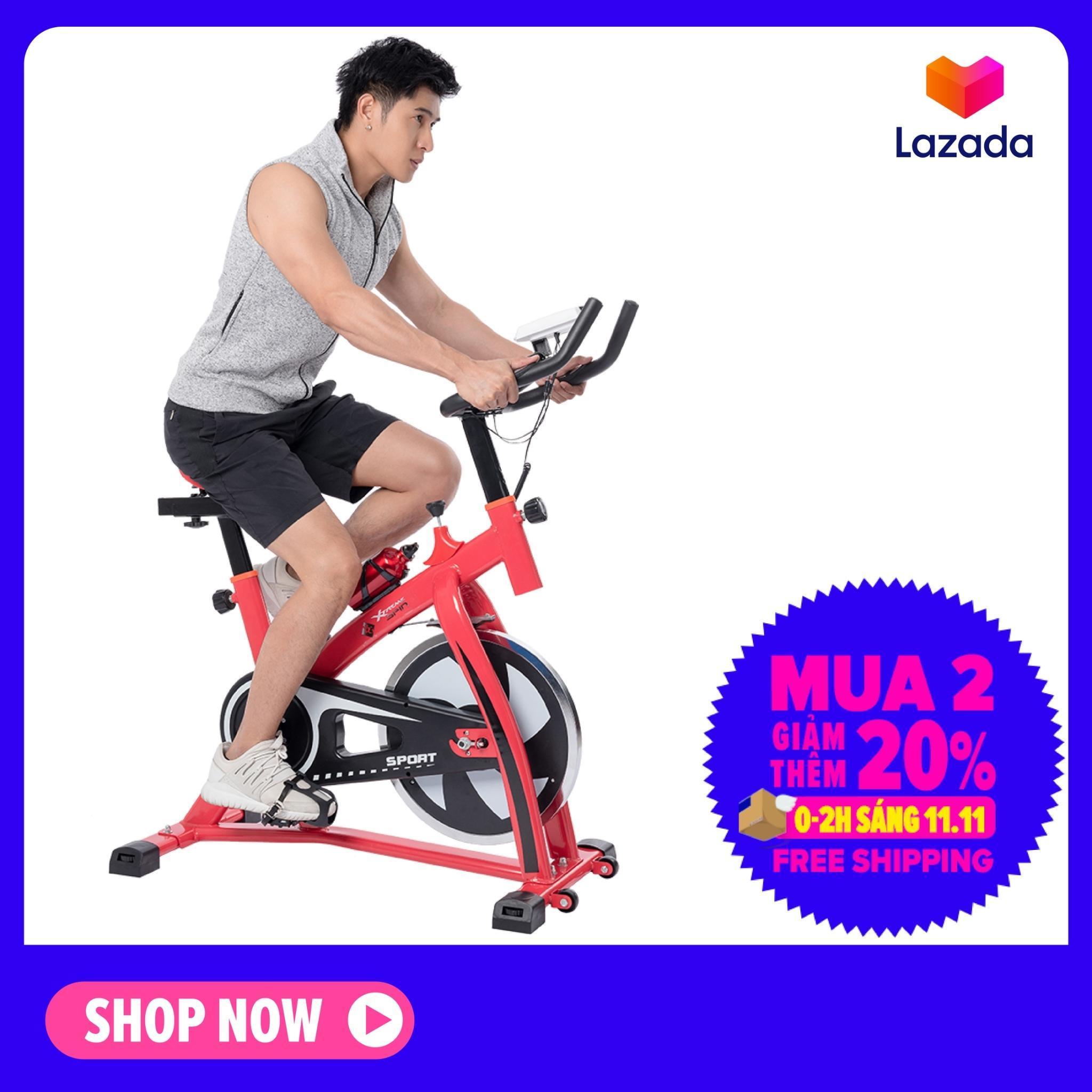 Bảng giá GYM - Xe đạp tập thể dục thể thao Spining bike Mẫu S-300 mới (Đỏ phối đen)