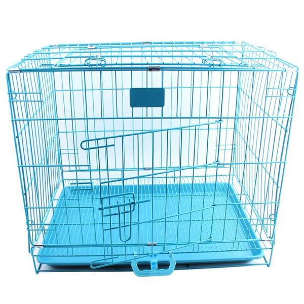 Lồng sơn tĩnh điện Size L 75x48x57cm có thể gấp gọn - lồng nhốt chó mèo