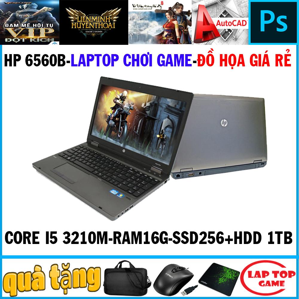 [Trả góp 0%]Laptop game+đồ họa -HP 6560B Core i5 2450M/ Ram 16G/ SSD 256G+ HDD 1TB/ Màn 15 inch Vỏ Nhôm) DÒNG MÁY BỀN BỈ CHẠY 24/24