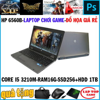 Laptop game+đồ họa -HP 6560B Core i5 2450M Ram 16G SSD 256G+ HDD 1TB Màn 15 inch Vỏ Nhôm) DÒNG MÁY BỀN BỈ CHẠY 24 24 thumbnail