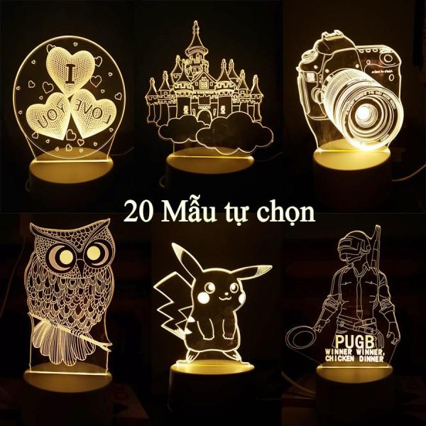 Bảng giá [Có Sẵn] Đèn Ngủ 3D, Đèn Trang Trí Phòng Nhiều Mẫu - Làm Quà Tặng Sinh Nhật, Quà Tặng Bạn Gái