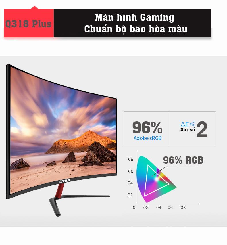 Giá Màn hình máy tính 32 inch chuyên game Freesync ATAS Q318 PLUS – Tần số quét 75HZ – Cong 1800R