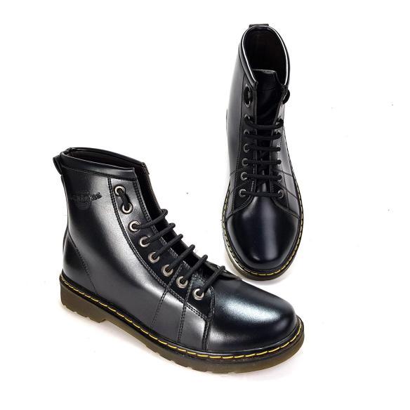 Giày bốt cao cổ giày chiến binh giày vệ sĩ cao cấp phong cách hàn quốc CC-27 màu đen giá rẻ