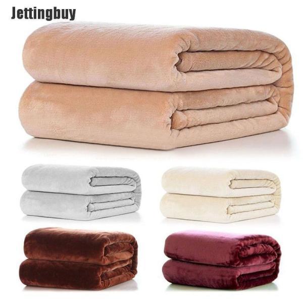 Jettingbuy Chăn lông cừu siêu ấm, siêu mềm, màu trơn, dễ dàng vệ sinh (size nhỏ, vui lòng xem kích thước khi đặt hàng)