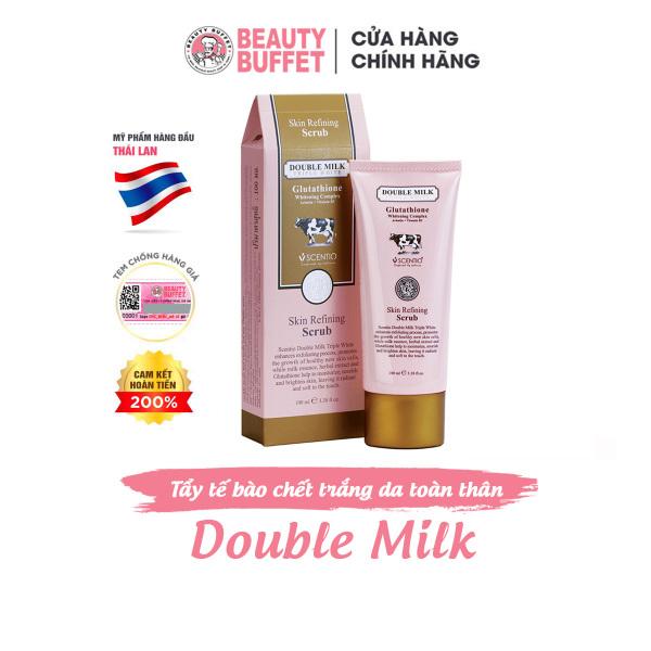 Gel tẩy tế bào chết da mặt và toàn thân Beauty Buffet Scentio Double Milk Triple White 100ml