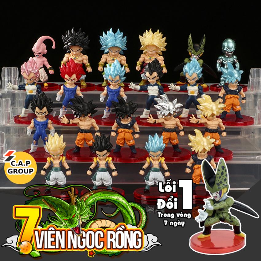 Mô Hình Dragon Ball Songoku Chibi mini Nhân Vật 7 Viên Ngọc Rồng đẹp - [ Kiểu 2 Lẻ 19K / 1 nhân vật - Full bộ 21 nhân vật = 380K ]