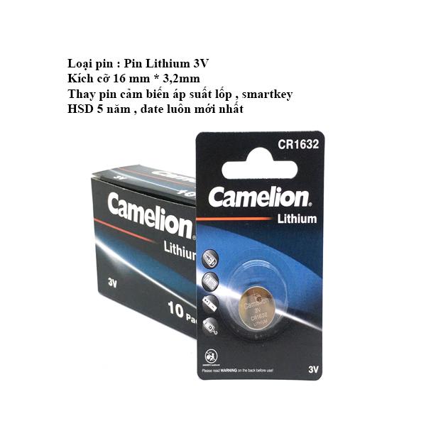Bảng giá Pin CR1632 Camelion thay cảm biến áp suất lốp