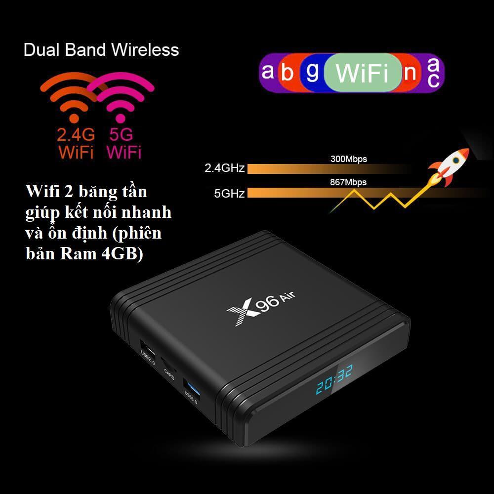 Bảng giá Android TV Box X96 Air - Amlogic S905X3, 4GB Ram, Rom 32GB, Android 9, Wifi 2 băng tần, Bluetooth 4.1, mạnh mẽ, đa năng Điện máy Pico