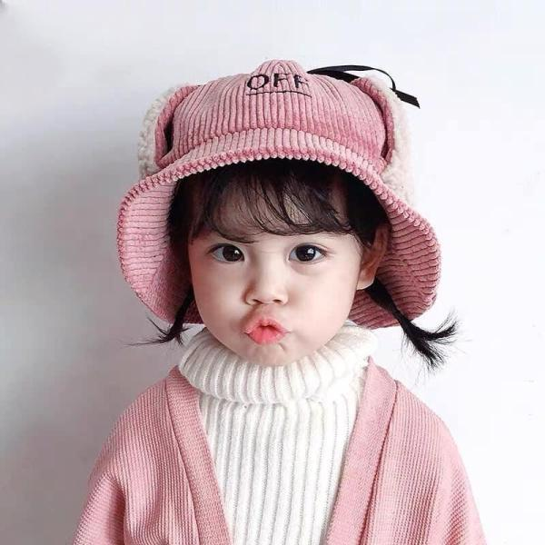 Mũ lông cừu giữ ấm Cho Bé Cho Bé Có Thể Sử Dụng Hai Mặt, Có Dây Buộc, Rộng Vành,Lót Nỉ, Chống Nắng Cho Bé