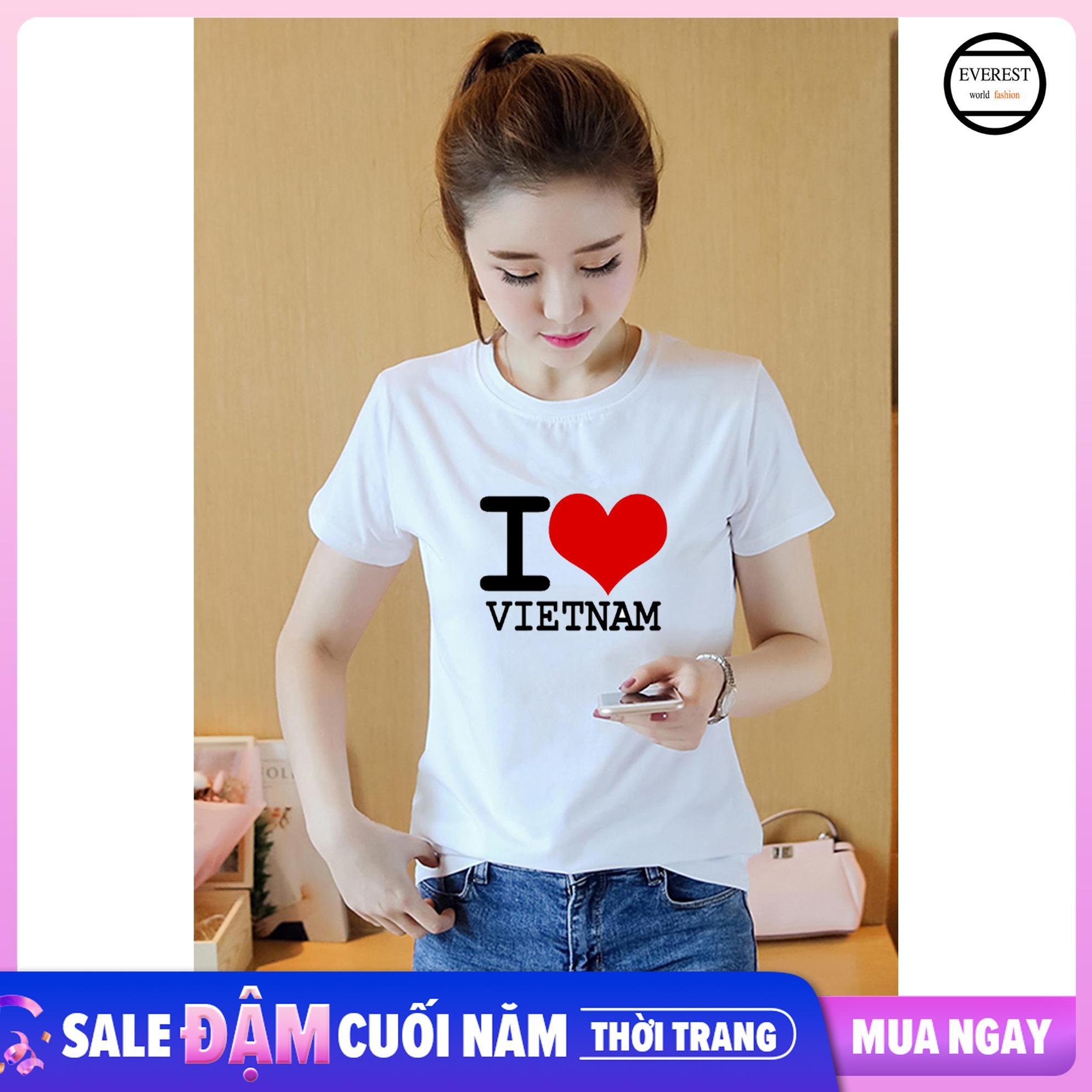 Áo Thun Nữ Tôi Yêu Việt Nam Vải Dày Mịn AoK1577 Giá Rẻ Nhất Thị Trường