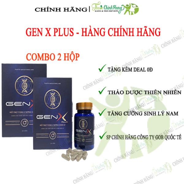 GEN X PLUS COMBO 2 HỘP - Viên Uống Tăng Cường Sinh Lý Nam HỘP 24 VIÊN