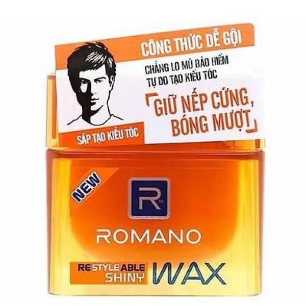 Romano - Sáp ( Wax ) Tạo Kiểu Tóc Cứng  Bóng Mượt Shiny 68 gr cao cấp